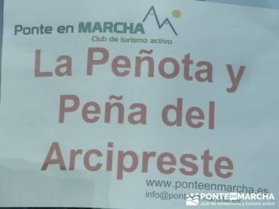La Peñota y Peña del Arcipreste; senderismo organizado;viajes senderismo madrid